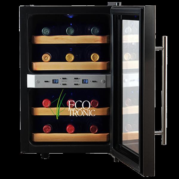 Винный шкаф Ecotronic WCM2-12DTE